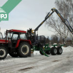 Traktor Zetor a vyvážačka
