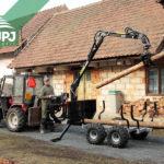 Malotraktorová vyvážačka
