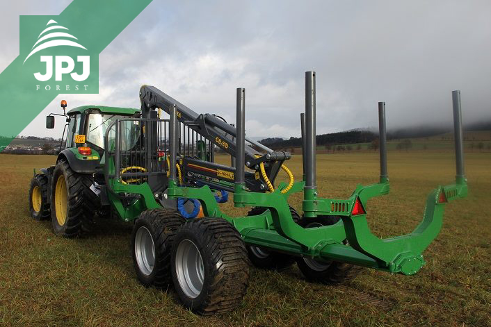 profesionálne vyvážacie vlek FARMA CT 8,5-12G2 pre traktor John Deere