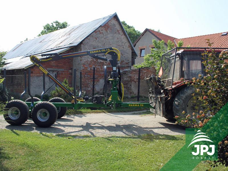 Vyvážačka FARMA CT 5,1-8 za traktor Belarus