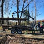 Vyvážacie vlek s hydraulickou rukou tretej generácie s dosahom 5 m