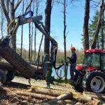 Vyvážacie vlek s hydraulickou rukou tretej generácie s dosahom 5 metrov